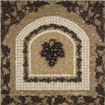 Chateau Grapes mosaic tile medallion backsplash