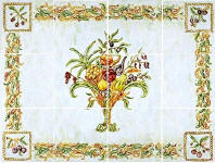 horizontal COlor Me Italian tile Mural