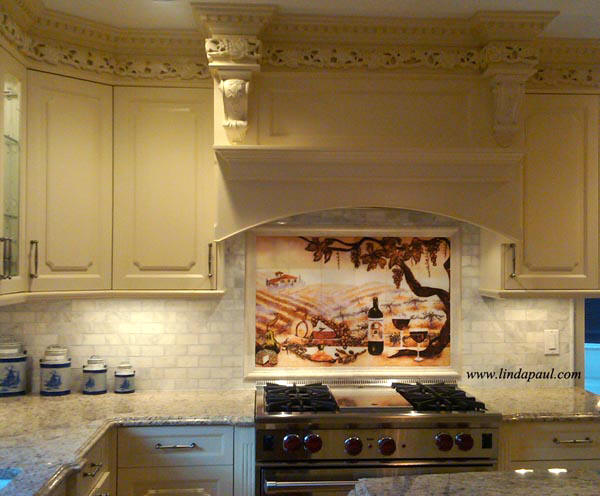 More sizes installation pictures individual accent for Backsplash mural tile