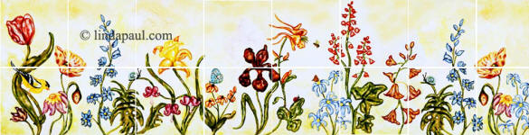 flower border tiles