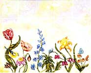 flower mural and border tiles