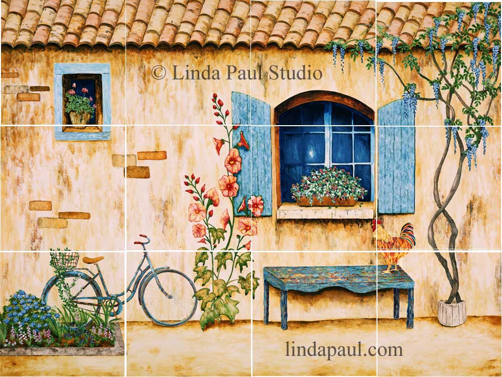 French Country Kitchen Backsplash Tiles Wall Murals - Country kitchen tiles
