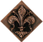 fleur de lis decorative tile accent