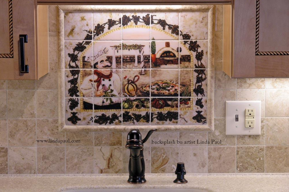 italian pizza kitchen tile backsplash - tuscan decorating ideas