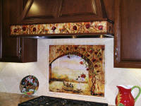 custom tile wall murals