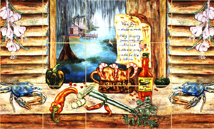 Louisiana Cajun Kitchen Art