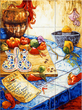 Mexican Tile Murals - Mexican Tiles Kitchen backsplash