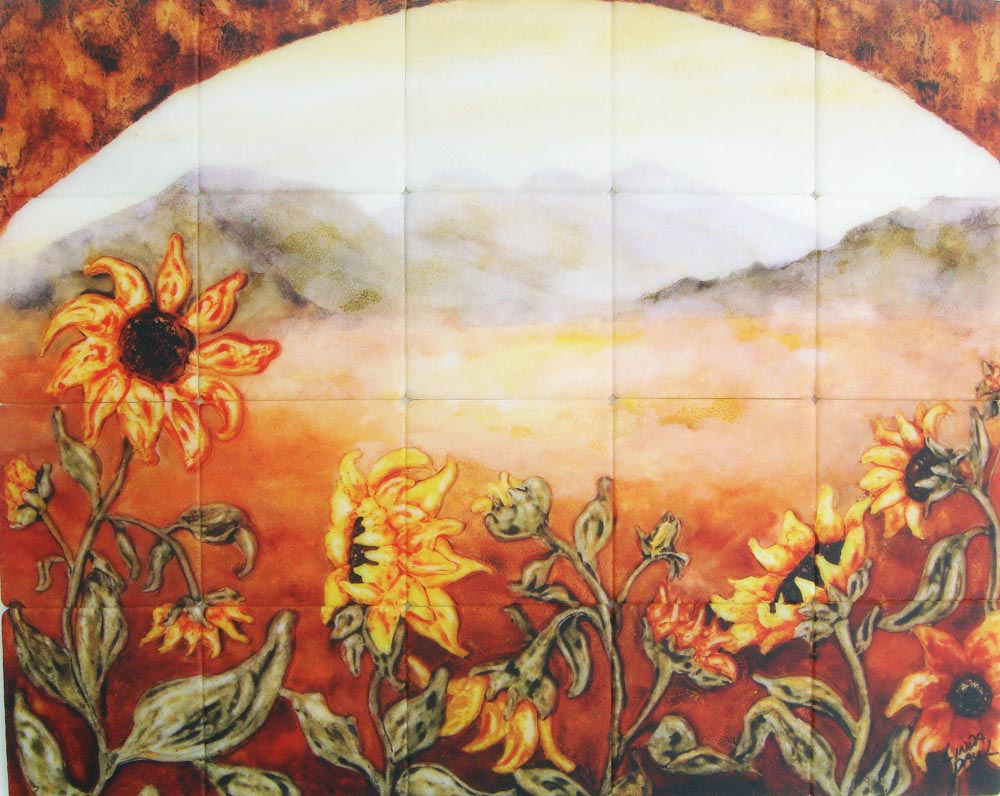Sunflower Kitchen Similiar Sunflowers Kitchen Tile Murals Keywords