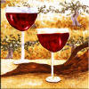 wine glasses tile