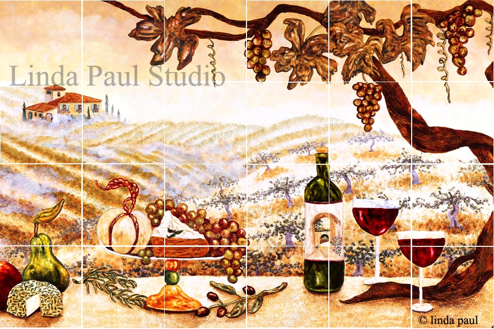 vineyard tile mural ver B