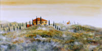 beautiful landscape paintings of Tuscany