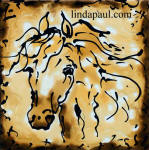 horse ceramic tile accent
