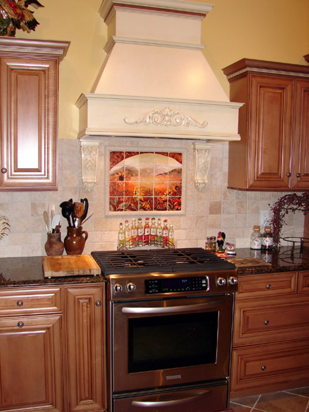 white french country kitchen backsplash
