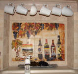 wine tile mural backsplash