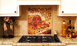 chili pepper backsplash