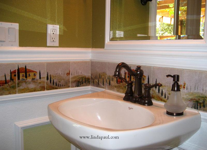 We have some great bathroom decorating ideas Linda Paul's Tuscany