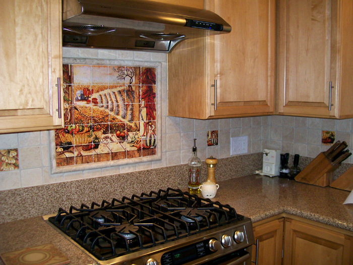 Kitchen Curtains chili pepper kitchen curtains : Mexican Tile Murals - Chili Pepper Kitchen Backsplash Mural