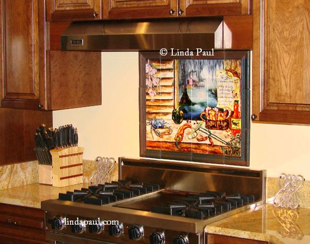 My Louisiana Kitchen Tile Mural Is Absolutely Gorgeous! I Love It! The  Colors Are Vibrant, And The Scene Makes Me Feel Like Iu0027m Back Home In  Louisiana.