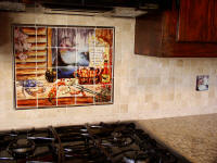 Louisiana bayou kitchen splash back