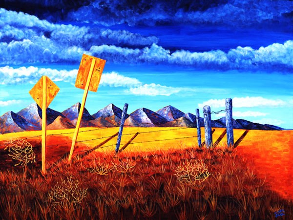 Anywhere USA - Art on Canvas for Western decor!