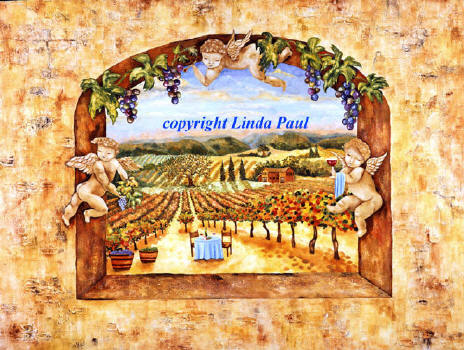 angels in the vines canvas artwork