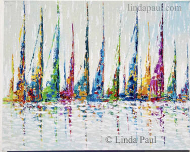 abstract sailboat paintings for sale