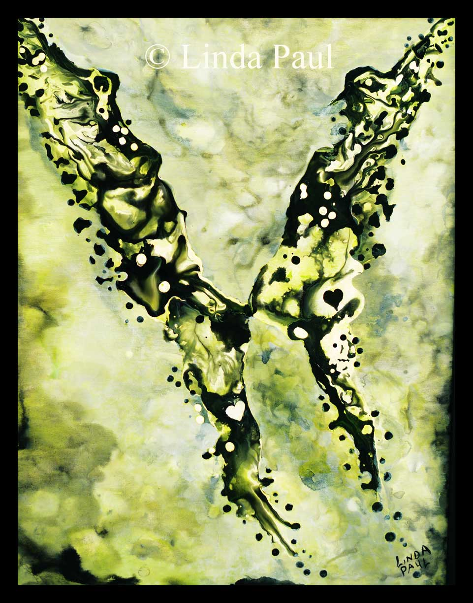 Butterfly Painting - original abstract wall art painting