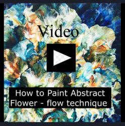 video how to paint abstract flower