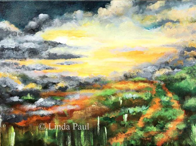 fb157d134 Where Earth Meets Sky Original Acrylic Landscape Painting 12