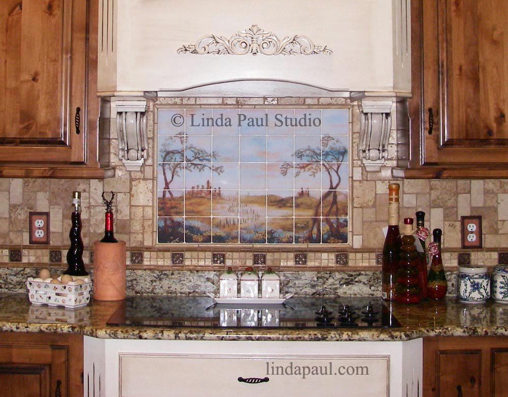 back splash is perfect with this italian country rustic kitchen