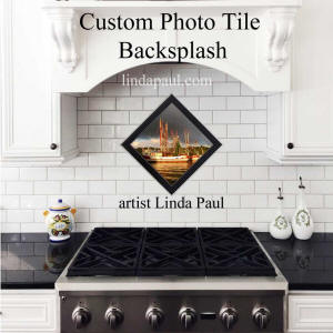 custom photo tile ceramic backsplash