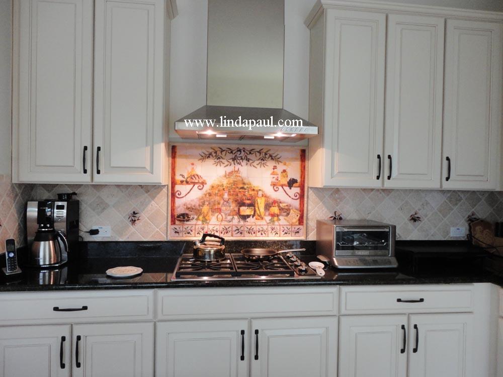 Italian tile backsplash kitchen tiles murals ideas for 4x4 kitchen ideas