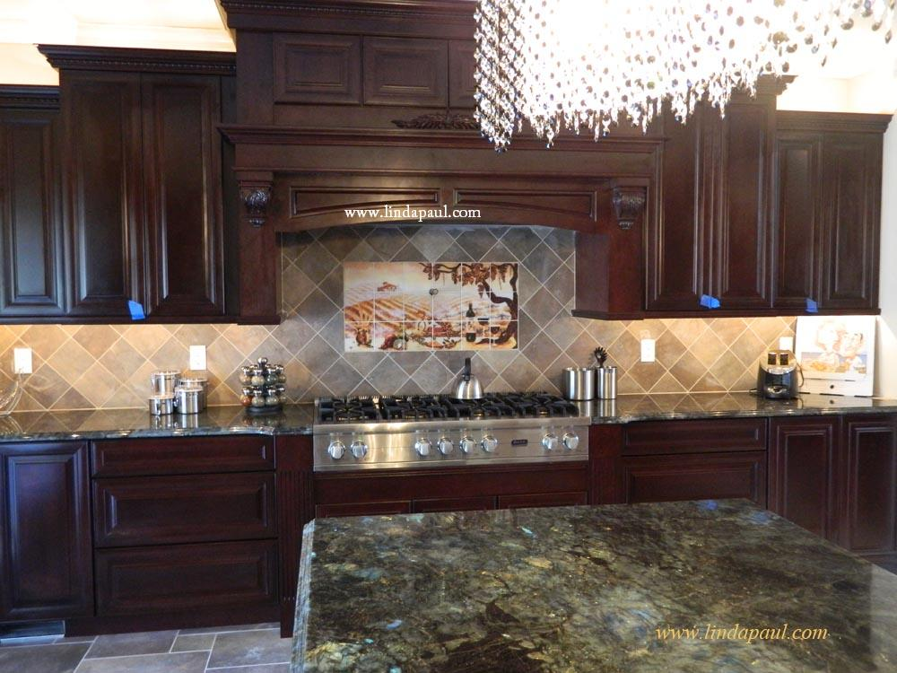New Kitchen Tile Backsplash Design Ideas ~ The vineyard tile murals tuscan wine tiles kitchen