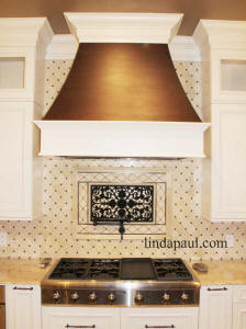 Ravenna onlay backsplash accent