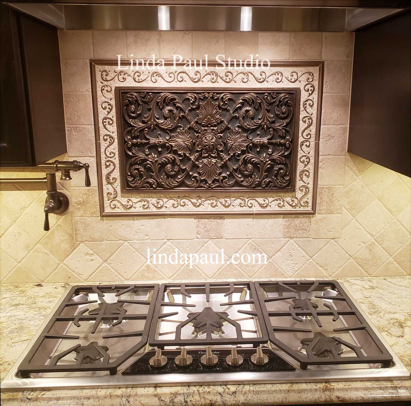 tile medallions for kitchen backsplash kitchen backsplash plaques ravenna decorative tile medallion 3054