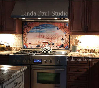Italian Tile Murals Tuscan Backsplash Tiles