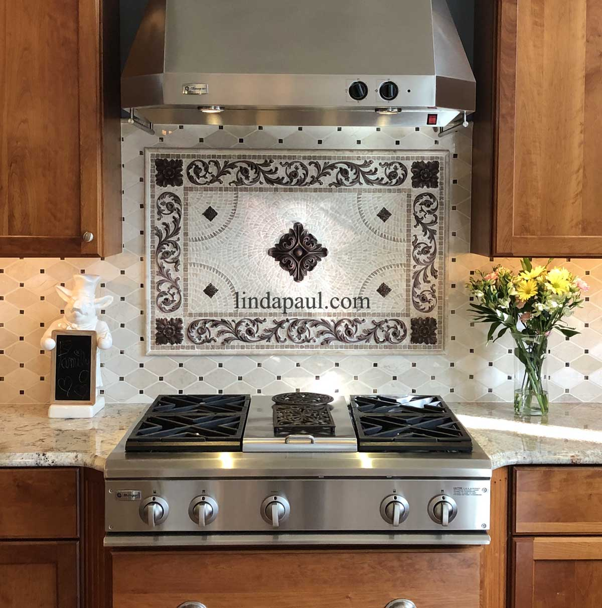 Mosaic Kitchen Backsplash Tile Medallions and Accents