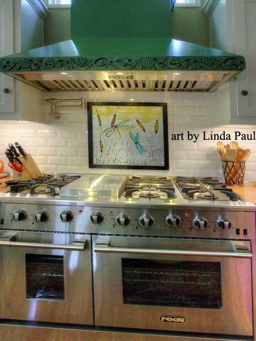 Glass Tile Kitchen Backsplash Designs