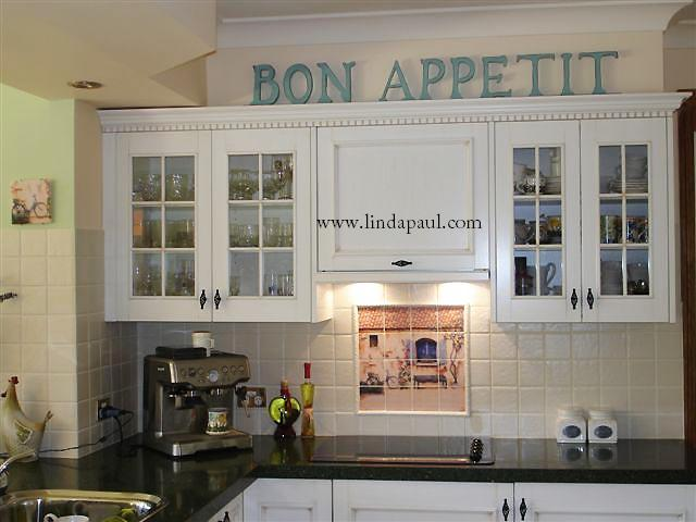 Our French Country House Mural Splash Back In This White Kitchen Australia Yes We Ship Worldwide