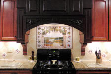 grapes kitchen backsplash installation