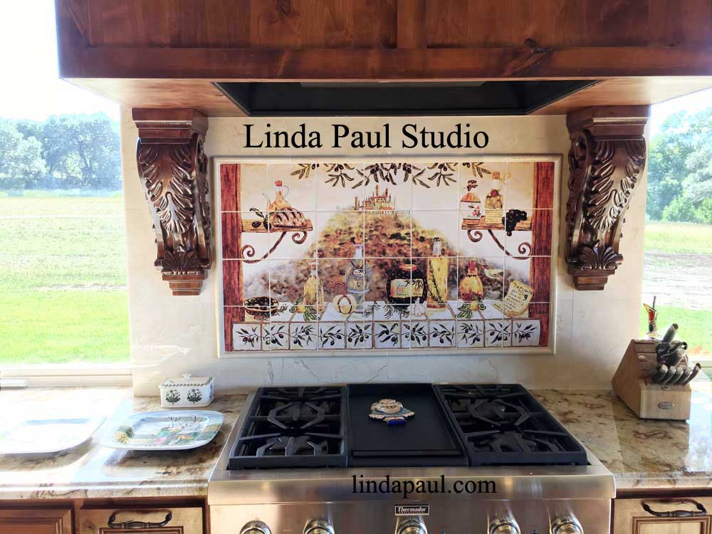 Tile murals kitchen backsplashes customer reviews for Backsplash tile mural