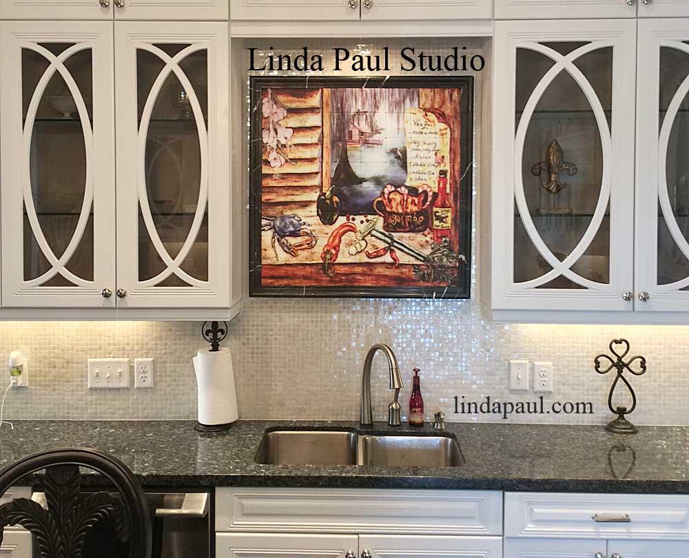 louisiana kitchen tile backsplash cajun art tiles rh lindapaul com decorative kitchen backsplash ideas