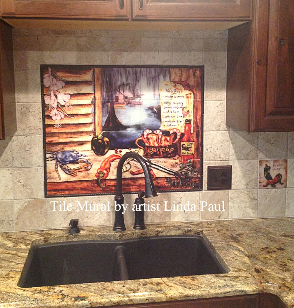 Superieur Cajun Kitchen Backsplash Installed ...