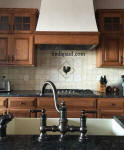 rooster backsplash accent