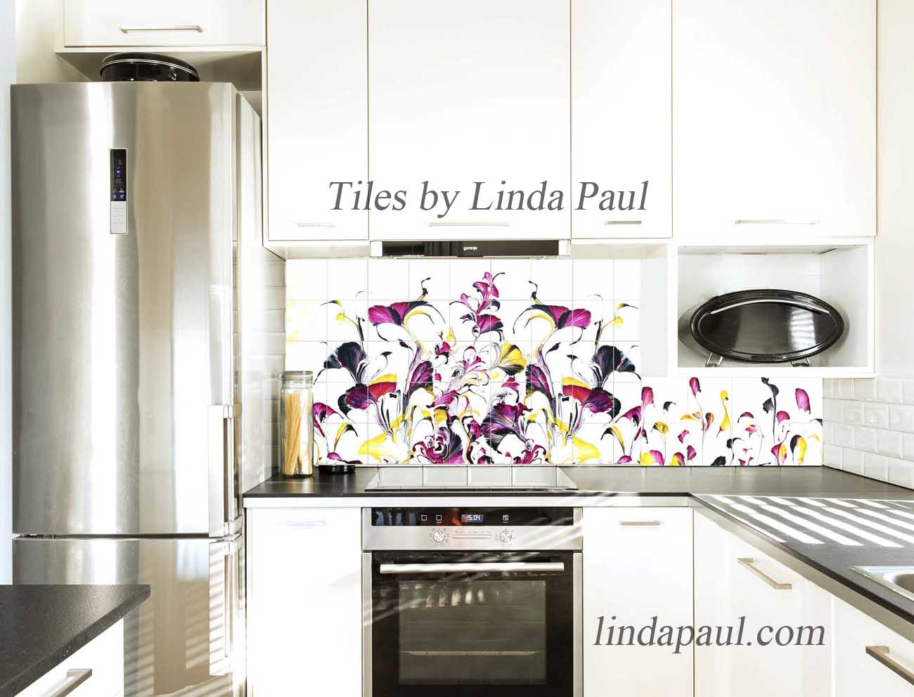 Modern Kitchen Backsplash Colorful Tiles
