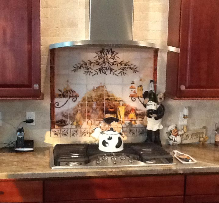 Italian Kitchen Tile Murals & Backsplash ideas