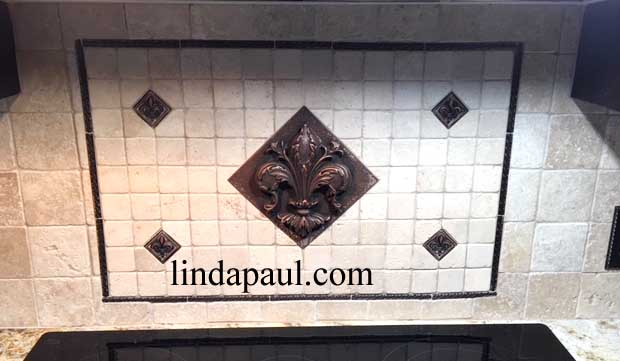 Kitchen Backsplash Metal Accents