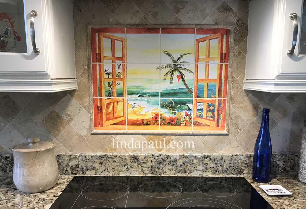 Surprising Florida Tile Mural Backsplash Tiles Palm Tree Art Tiles Download Free Architecture Designs Xoliawazosbritishbridgeorg