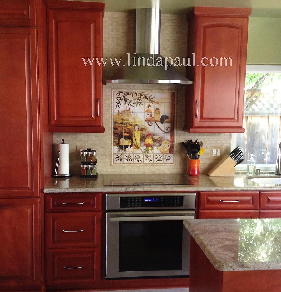 Photo Of Kitchen Tiles: Tuscan Backsplash Tile Murals