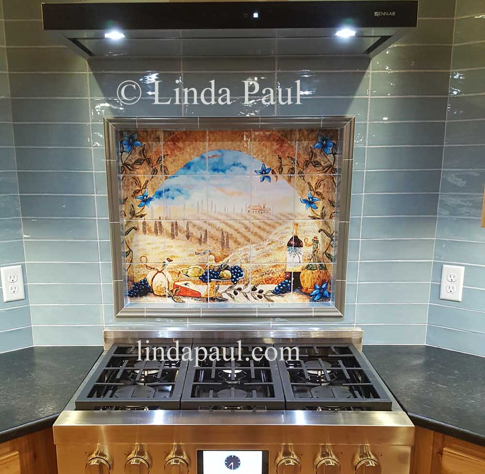 kitchen tile murals italian tile murals tuscany backsplash tiles 3269